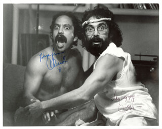 CHEECH & CHONG - AUTOGRAPHED SIGNED PHOTOGRAPH 1981 CO-SIGNED BY: CHEECH & CHONG (CHEECH MARIN), CHEECH & CHONG (TOMMY CHONG)