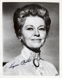 VIRGINIA CHRISTINE - AUTOGRAPHED SIGNED PHOTOGRAPH 1980
