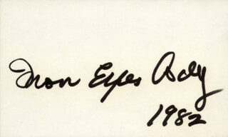 IRON EYES CODY - AUTOGRAPH 1982