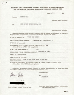 DENNIS COLE - CONTRACT SIGNED 02/07/1970