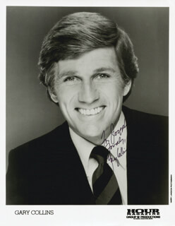 GARY COLLINS - INSCRIBED PRINTED PHOTOGRAPH SIGNED IN INK