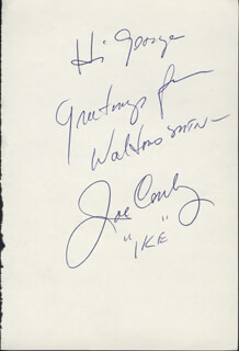 JOE CONLEY - INSCRIBED SIGNATURE
