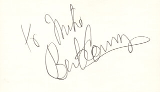 BERT CONVY - INSCRIBED SIGNATURE