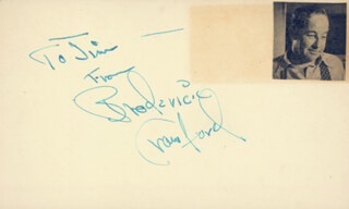 BRODERICK CRAWFORD - AUTOGRAPH NOTE SIGNED