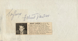 HELMUT DANTINE - INSCRIBED ALBUM LEAF SIGNED