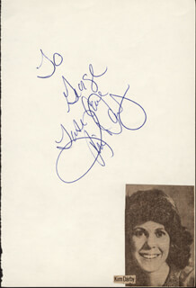 KIM DARBY - AUTOGRAPH NOTE SIGNED