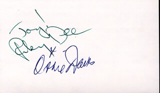 Autographs: RUBY DEE - SIGNATURE(S) CO-SIGNED BY: OSSIE DAVIS