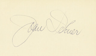 JOAN DIENER - POST CARD SIGNED