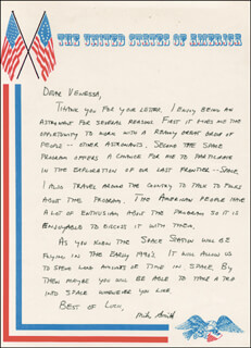 CAPTAIN MICHAEL J. SMITH - AUTOGRAPH LETTER SIGNED