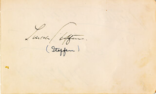 LINCOLN STEFFENS - AUTOGRAPH 11/17/1911 CO-SIGNED BY: WALTER DEATH VALLEY SCOTTY SCOTT