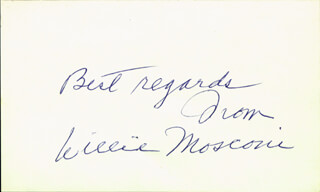 WILLIE MOSCONI - AUTOGRAPH