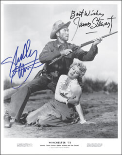 WINCHESTER '73 - AUTOGRAPHED SIGNED PHOTOGRAPH CO-SIGNED BY: JAMES JIMMY STEWART, SHELLEY WINTERS