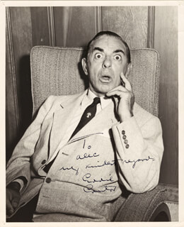 EDDIE CANTOR - AUTOGRAPHED INSCRIBED PHOTOGRAPH