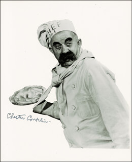 CHESTER CONKLIN - AUTOGRAPHED SIGNED PHOTOGRAPH