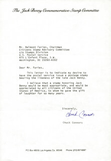 CHUCK CONNORS - TYPED LETTER SIGNED
