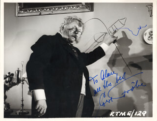 GERT FROBE - AUTOGRAPHED INSCRIBED PHOTOGRAPH