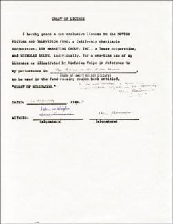 SIR ALEC GUINNESS - DOCUMENT MULTI-SIGNED 01/10/1987