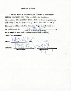 BEN KINGSLEY - DOCUMENT SIGNED 02/02/1987