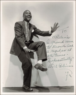 BILL BOJANGLES ROBINSON - AUTOGRAPHED INSCRIBED PHOTOGRAPH 1936