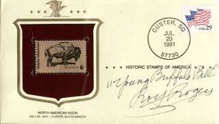 ROY ROGERS - ENVELOPE SIGNED