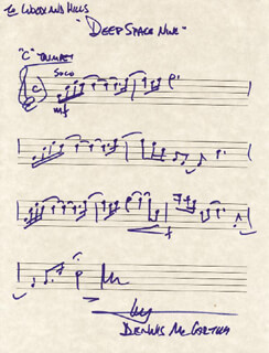 DENNIS McCARTHY - AUTOGRAPH MUSICAL QUOTATION SIGNED CO-SIGNED BY: STAR TREK: DEEP SPACE NINE TV CAST
