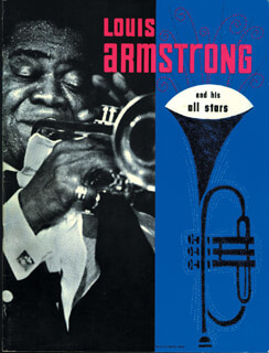 Autographs: LOUIS SATCHMO ARMSTRONG - INSCRIBED PROGRAM SIGNED
