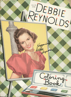 DEBBIE REYNOLDS - BOOK SIGNED CIRCA 1953