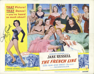 JANE RUSSELL - LOBBY CARD SIGNED