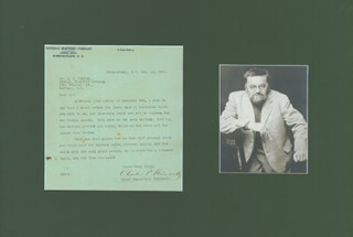 CHARLES P. STEINMETZ - TYPED LETTER SIGNED 12/11/1922