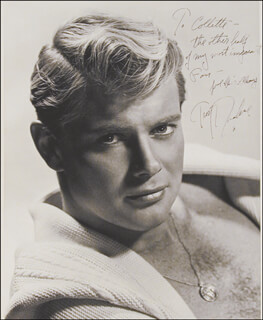 TROY DONAHUE - AUTOGRAPHED SIGNED PHOTOGRAPH