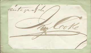 Autographs: JAY COOKE - CLIPPED SIGNATURE