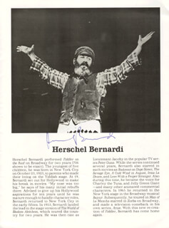 HERSCHEL BERNARDI - PROGRAM SIGNED