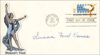 SUSAN E. FORD - FIRST DAY COVER SIGNED