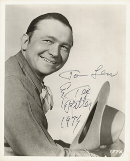 TEX RITTER - AUTOGRAPHED INSCRIBED PHOTOGRAPH 1973