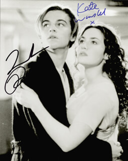 TITANIC MOVIE CAST - AUTOGRAPHED SIGNED PHOTOGRAPH CO-SIGNED BY: LEONARDO DI CAPRIO, KATE WINSLET