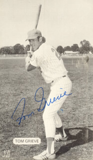 TOM GRIEVE - AUTOGRAPHED SIGNED PHOTOGRAPH