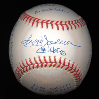 REGGIE MR. OCTOBER JACKSON - ANNOTATED BASEBALL SIGNED