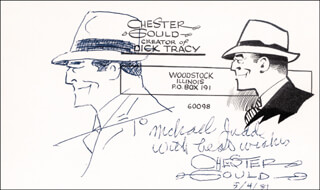 CHESTER GOULD - INSCRIBED ORIGINAL ART SIGNED 05/04/1981