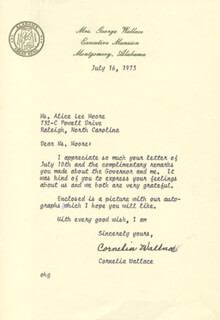 CORNELIA FOLSOM WALLACE - TYPED LETTER SIGNED 07/16/1973