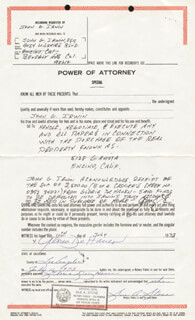 GLORIA DEHAVEN - DOCUMENT SIGNED 07/11/1973