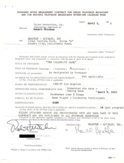 ROBERT MITCHUM - CONTRACT SIGNED 04/01/1965