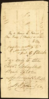 Autographs: HENRY CLAY - CHECK ENDORSED 01/21/1833