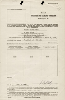 J. PAUL GETTY - DOCUMENT SIGNED 04/01/1948