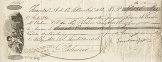 GIOACCHINO A. ROSSINI - DOCUMENT SIGNED 09/12/1853