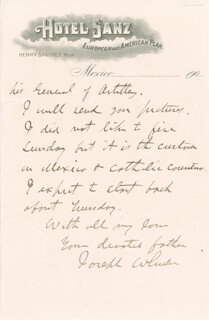 MAJOR GENERAL JOSEPH FIGHTIN' JOE WHEELER - AUTOGRAPH LETTER SIGNED 12/11/1904
