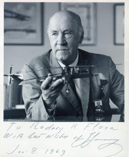 IGOR SIKORSKY - AUTOGRAPHED INSCRIBED PHOTOGRAPH 01/08/1969