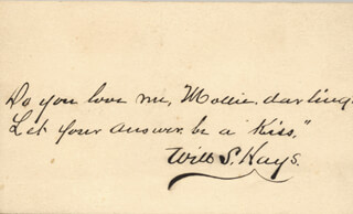 Autographs: WILLIAM SHAKESPEARE HAYS - AUTOGRAPH LYRICS SIGNED