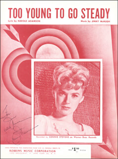 Autographs: CONNIE STEVENS - INSCRIBED SHEET MUSIC SIGNED