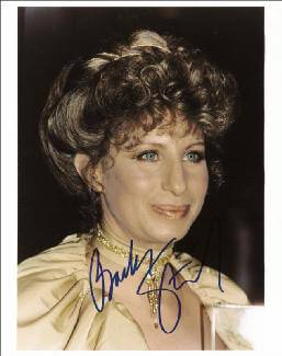 BARBRA STREISAND - AUTOGRAPHED SIGNED PHOTOGRAPH