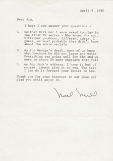 NOEL NEILL - TYPED LETTER SIGNED 04/09/1980